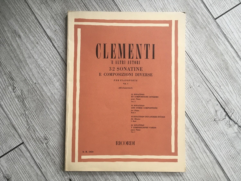 CLEMENTI e altri autori - 32 sonatine e composizioni diverse per pianoforte Vol. 1