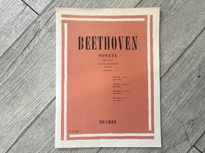 BEETHOVEN - Sonata Per Pianoforte Op. 27 N. 1