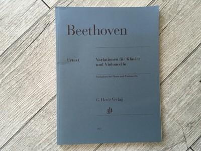 BEETHOVEN - Variationene Fur Klavier Und Violoncello