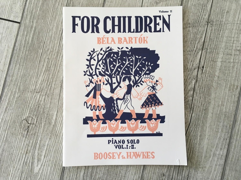 BÉLA BARTÓK - For Children Piano Solo Vol 2