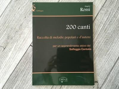 ANGELO ROSSI - 200 canti (solfeggio cantato)