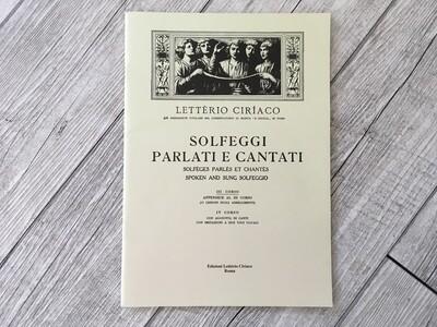 LETTERIO CIRIACO - Solfeggi parlati e cantati Vol. 3 (appendice al 3 corso)