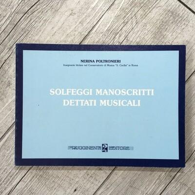 NERINA POLTRONIERI - Solfeggi manoscritti dettati musicali