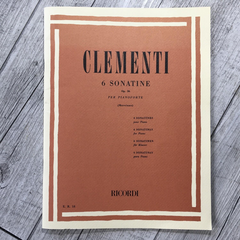 CLEMENTI - 6 sonatine Op. 36