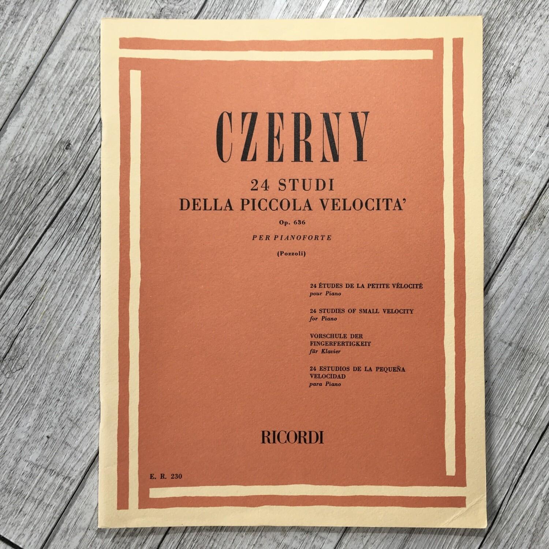 CZERNY - La piccola velocità 24 studi Op. 636