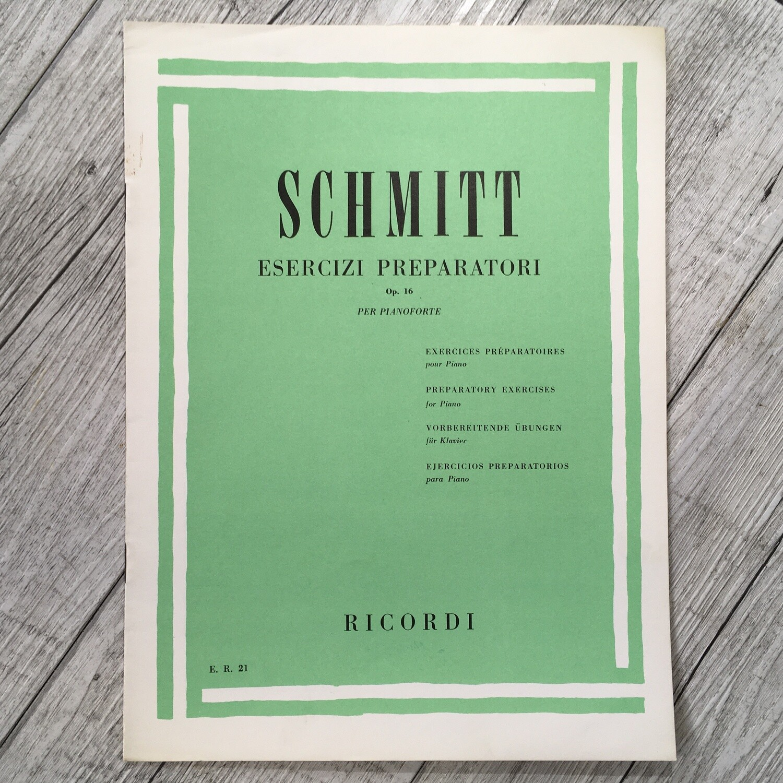 SCHMITT - Esercizi preparatori Op. 16