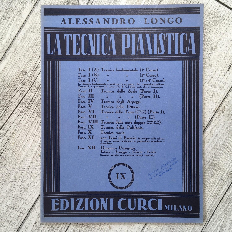ALESSANDRO LONGO - La tecnica pianistica Vol. 9