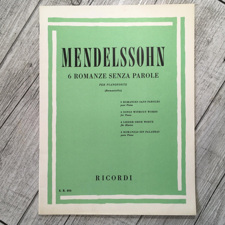 MENDELSSOHN - 6 romanze senza parole