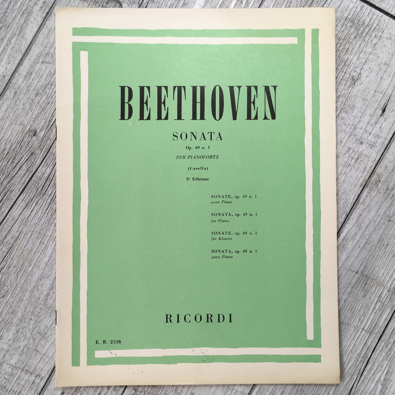 BEETHOVEN - Sonata per pianoforte Op. 49 N. 1