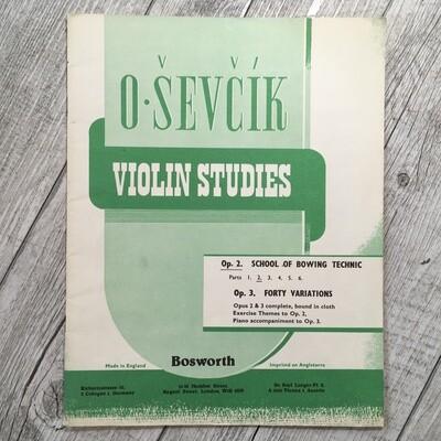 O. SEVCIK - Violin studies Op. 2 e Op. 3