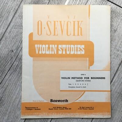 O. SEVCIK - Violin studies Op. 7