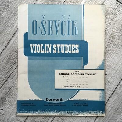 O. SEVCIK - Violin studies Op. 1