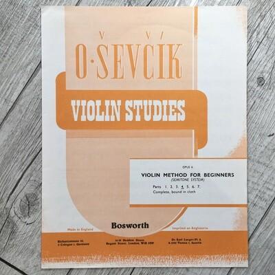 O. SEVCIK - Violin studies Op. 6 Vol. 4