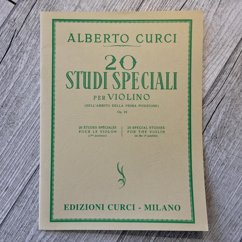 ALBERTO CURCI - 20 studi speciali per violino Op. 24