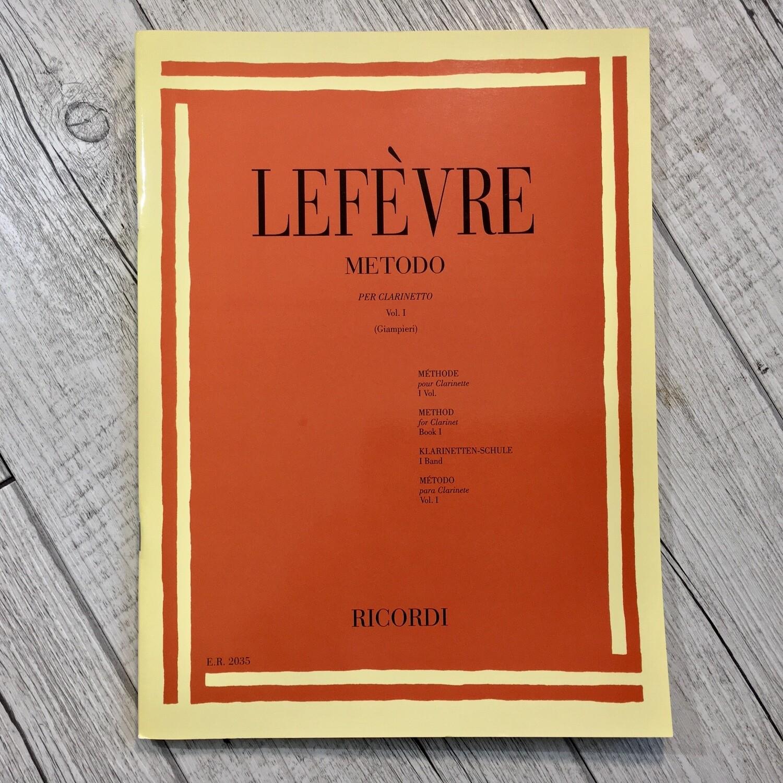LEFÉVRE - Metodo per clarinetto Vol. 1