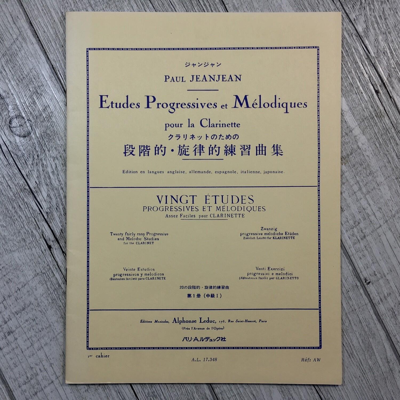 PAUL JEANJEAN - Vingt ètudes per clarinetto