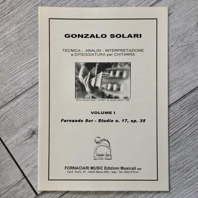 GONZALO SOLARI - Tecnica analisi interpretazione e diteggiatura per chitarra Vol. 1