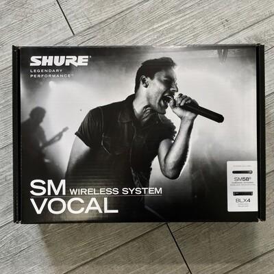 SHURE BLX24E/SM58 - Microfono radio cardioide dinamico SM 58