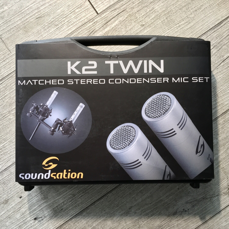 SOUNDSATION K2 TWIN - Pack 2 microfoni condensatore