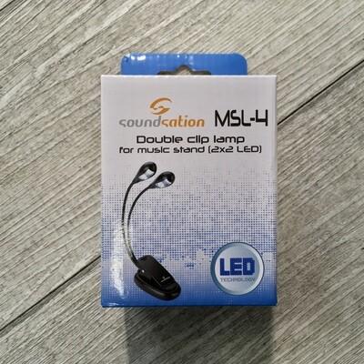 SOUNDSATION MSL4 - Lampada led a clip
