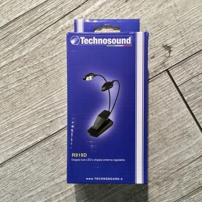 TECHNOSOUND R919D - Doppia luce led regolabile a clip