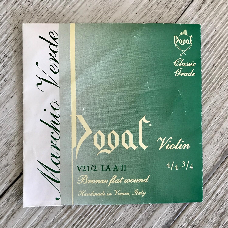 DOGAL - Corda singola LA A II per Violino 3/4 4/4