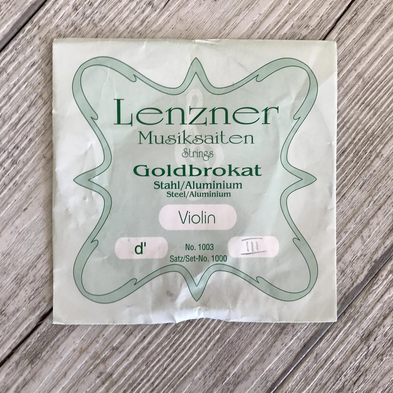LENZNER - Corda singola RE D III per Violino 3/4 4/4