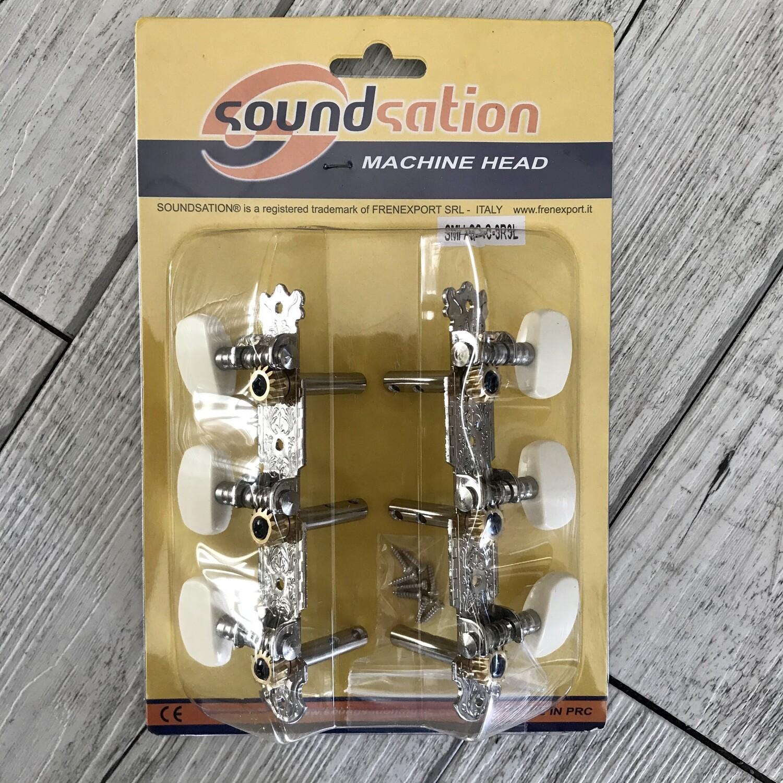 SOUNDSATION SMHSSC3R3L - Meccanica per Chitarra Classica corde in metallo