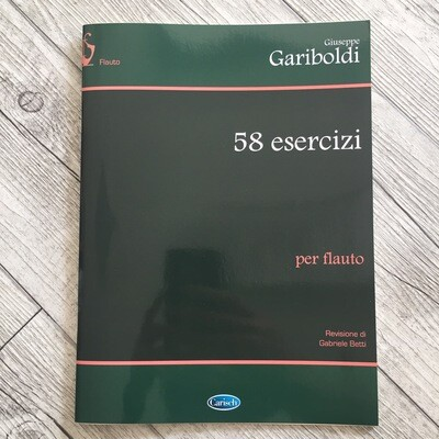 GIUSEPPE GARIBOLDI 58 Esercizi Per Flauto Traverso