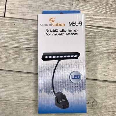 SOUNDSATION MSL9 - Lampada per leggio a clip 9 LED
