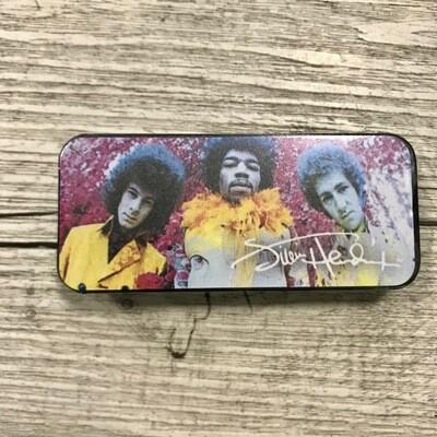 DUNLOP - Box in metallo 12 plettri Medium Jimi Hendrix