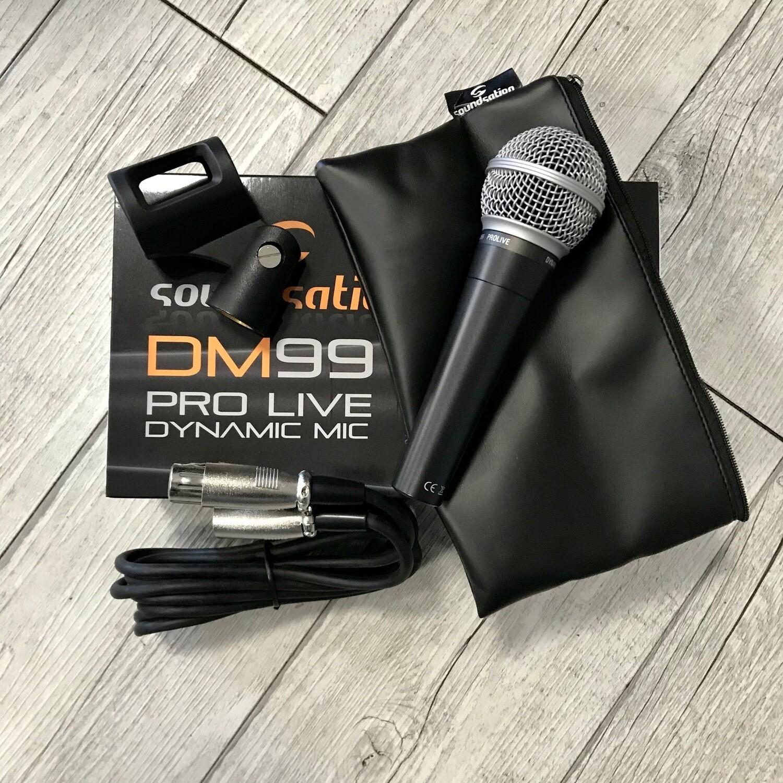 SOUNDSATION DM99 - Microfono dinamico pro per voce