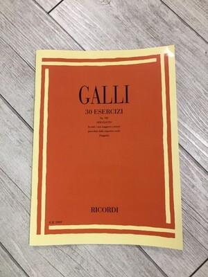 GALLI 30 Esercizi Op. 100 per flauto