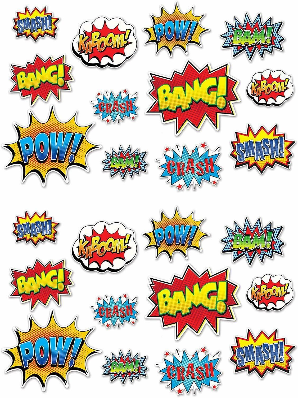 12 Piece Hero Action Sign Cutouts