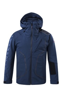 Funktions-Jacke Dress Blue Herren mit Kapuze