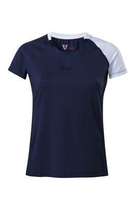 T-Shirt Due Colore  Damen Dress Blue