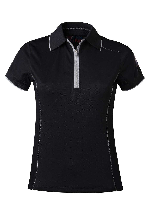 T-Shirt Polo  Black Damen