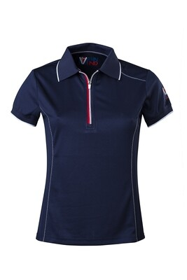 T-Shirt Polo Dress Blue Damen