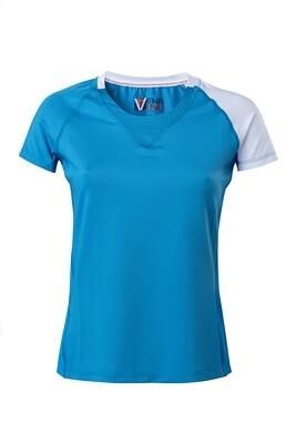 T-Shirt Due Colore  Damen Blue Atol