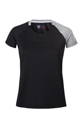 T-Shirt Due Colore  Damen Black