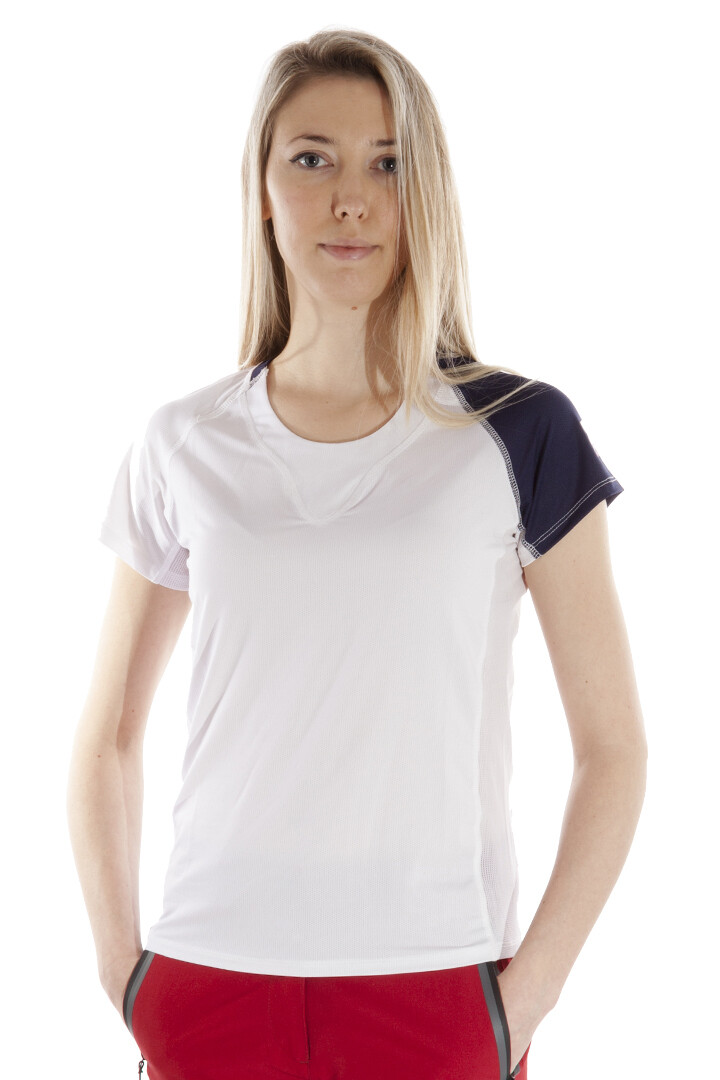 T-Shirt Due Colore  Damen White