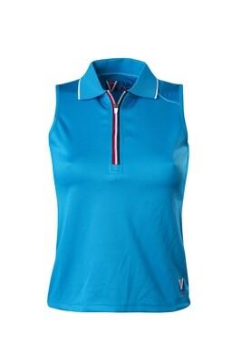 Polo Top Damen Blue Atol