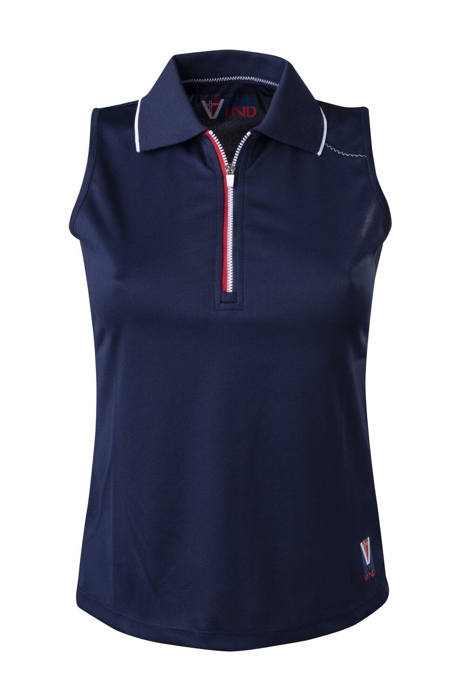 Polo Top Damen Dress Blue