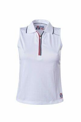 Polo Top Damen White