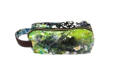 Batik Pouch - Green Galaxy