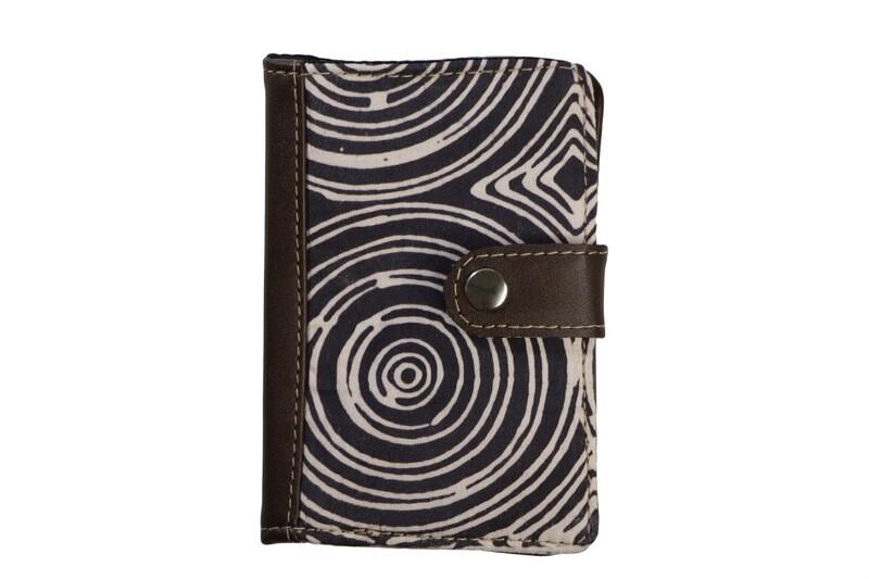 Batik Passport Holder - Spirals