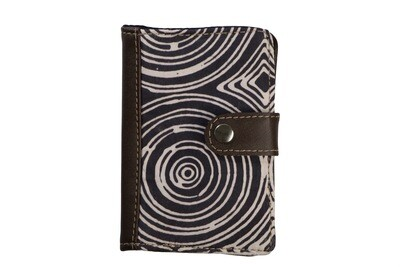 Batik Passport Holder - Spirals