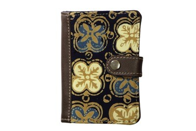 Batik Passport Holder - Blue Anggerik