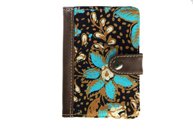 Batik Passport Holder - Turquoise Teratai