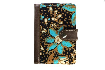 Batik Passport Holder - Turquoise Teratai
